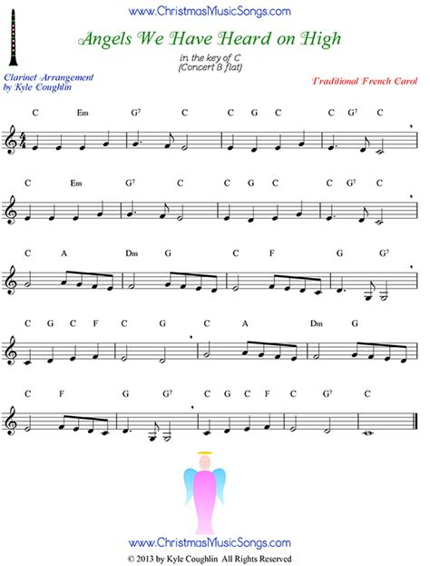 Angels We Have Heard On High For Clarinet Trio  music sheet