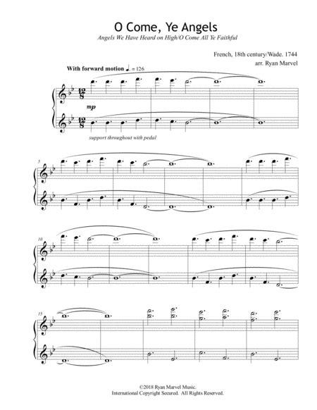 Angels We Have Heard On High O Come All Ye Faithful  music sheet