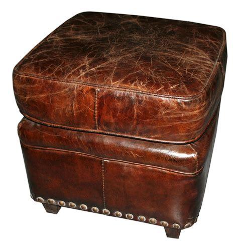 antique leather ottoman footstool eBay