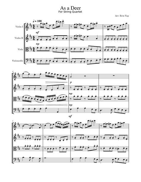 As The Deer String Quartet  music sheet