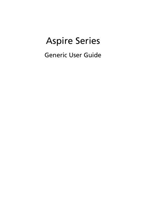 free download ebooks Aspire Series Generic User Guide.pdf