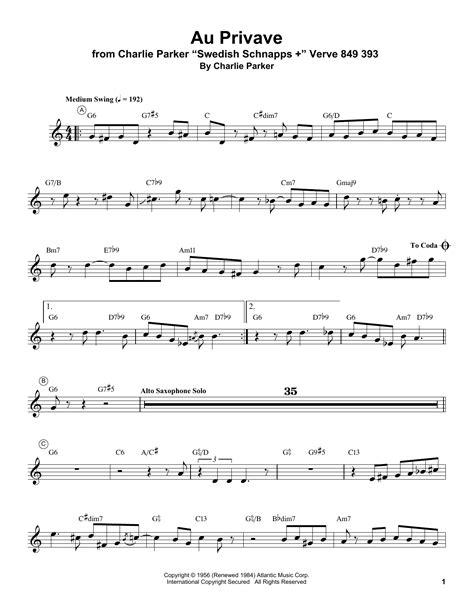 Au Privave Trumpet Quartet  music sheet