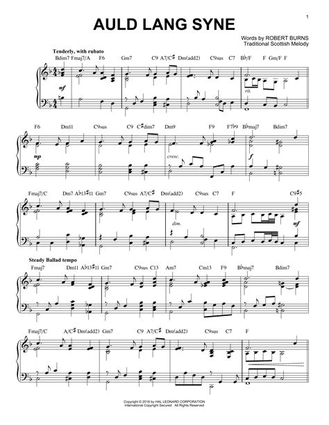 Auld Lang Syne For Clarinet And Piano Jazz Pop Version  music sheet