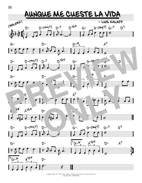 Aunque Me Cueste La Vida Violin Solo And Piano Accompaniment  music sheet