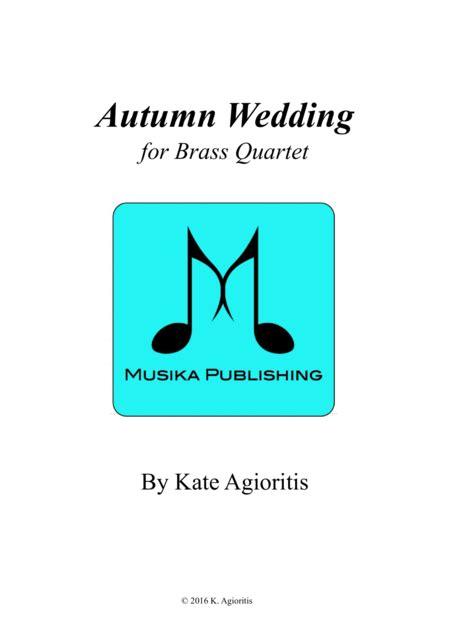 Autumn Wedding Brass Quartet  music sheet