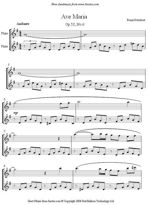 Ave Maria By Franz Schubert Flute And Clarinet Duet  music sheet