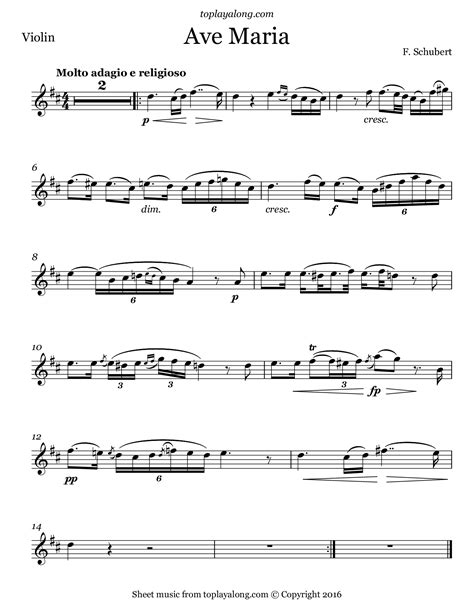 Ave Maria By Franz Schubert Violin And Cello Duet  music sheet