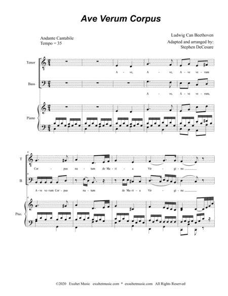 Ave Verum Corpus For 2 Part Choir Tb  music sheet