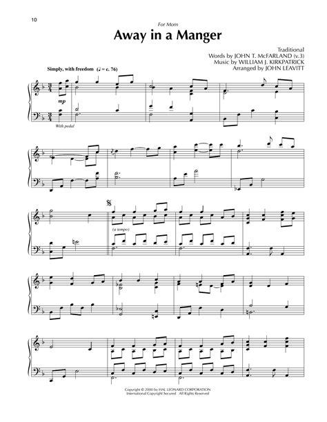 Away In A Manger Arr John Leavitt  music sheet