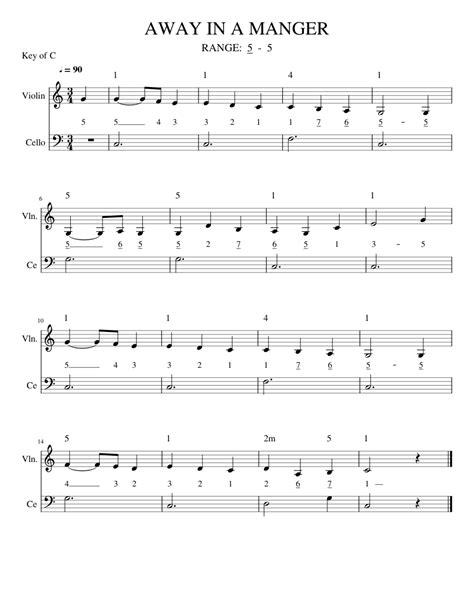 Away In A Manger For String Trio  music sheet