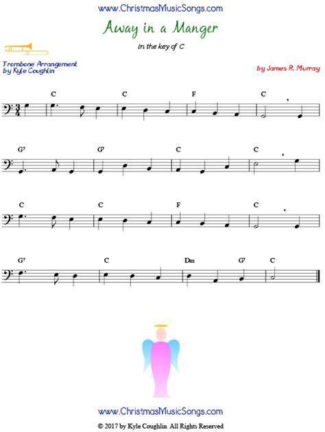 Away In A Manger For Trombone Lead Sheet  music sheet