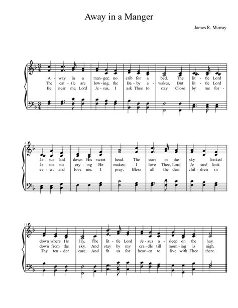 Away In A Manger Solo And Piano  music sheet