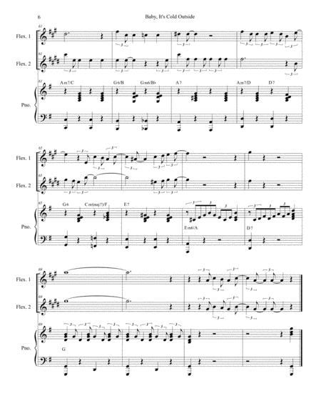 Baby Its Cold Outside Duet For Flexible Treble Instrumentation  music sheet