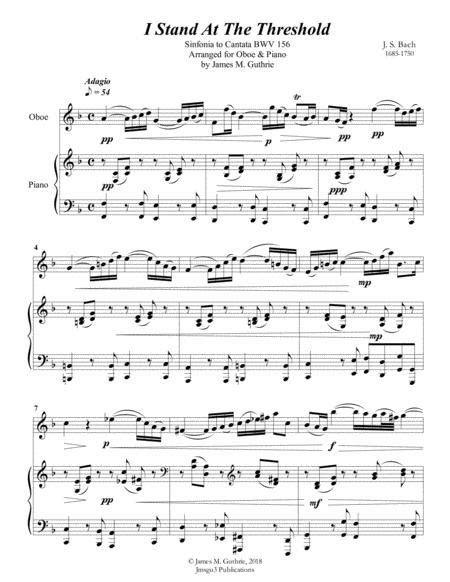 Bach I Stand At The Threshold For Oboe Piano  music sheet