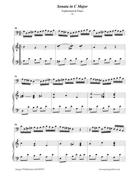 Bach Sonata Bwv 1033 For Euphonium Piano  music sheet