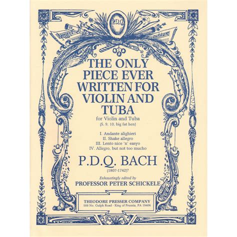 Bach The Only Piece For Violin And Tuba  music sheet