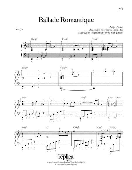 Ballade Romantique Partition Piano Solo  music sheet