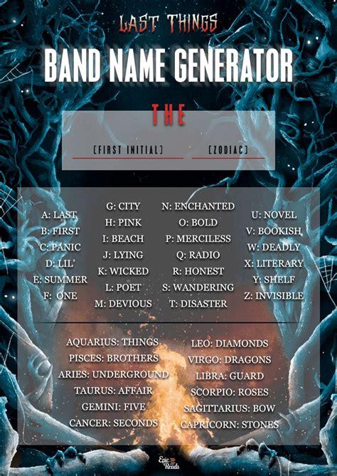 band Name Generator Online Name online generator