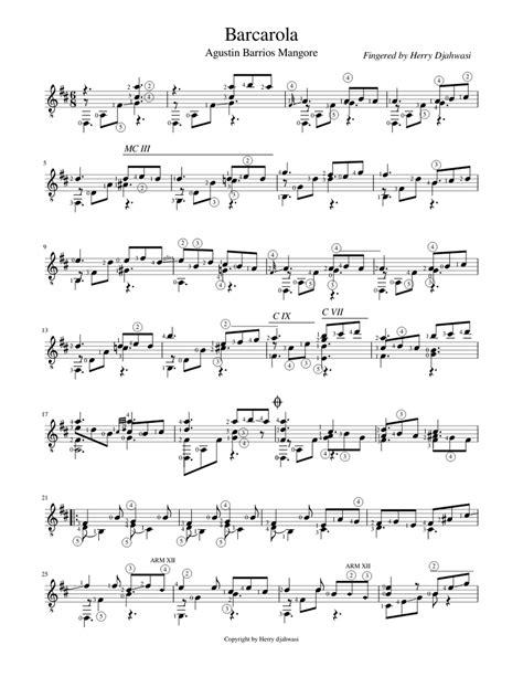 Barcarola  music sheet