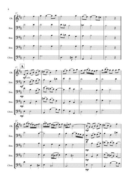 Bassoon Quintet Variations On La Folia  music sheet