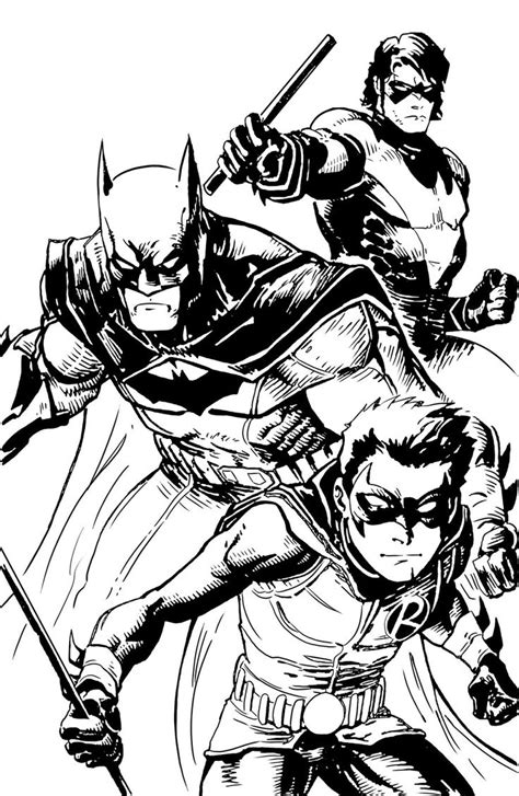 batman and robin coloring pages to print printable