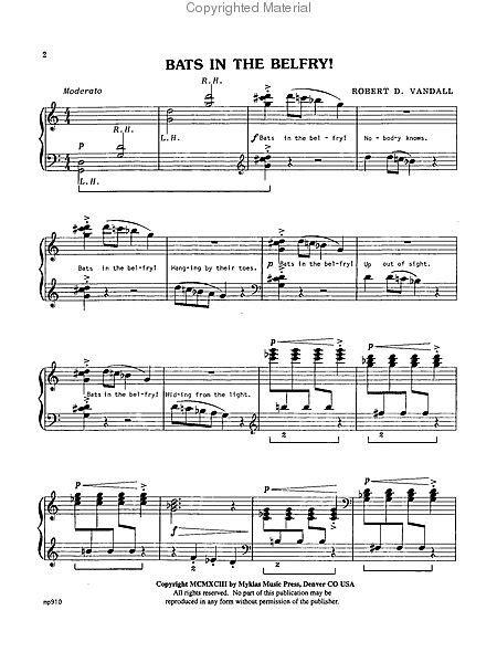 Bats In The Belfry  music sheet