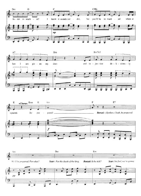 Be Prepared From The Lion King music sheet