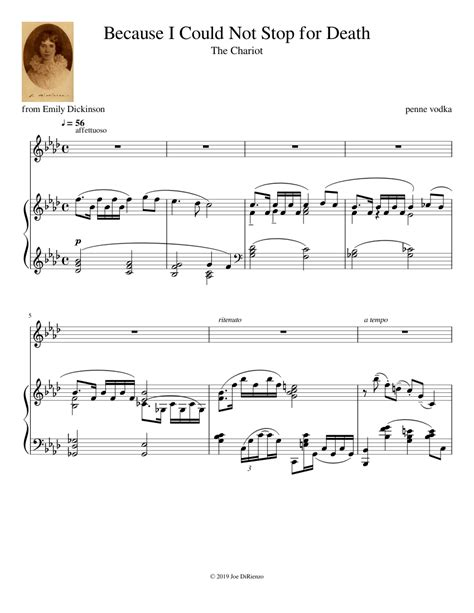 Because I Could Not Stop For Death  music sheet