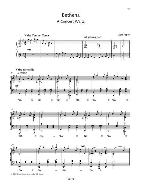 Bethena  music sheet