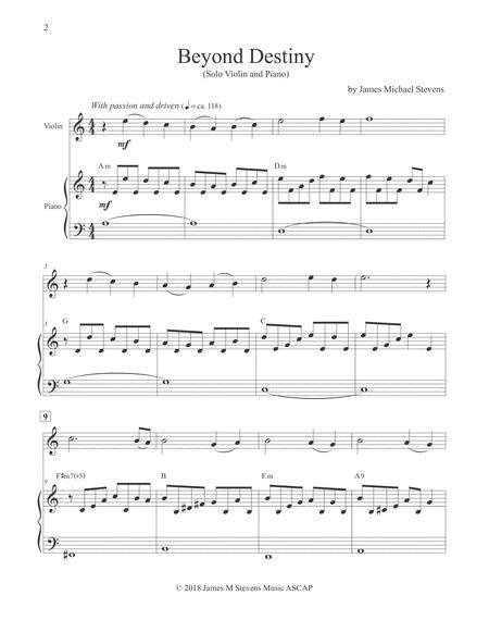 Beyond Destiny Solo Violin  music sheet