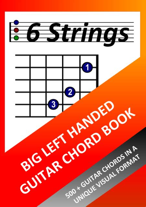 Big Left Handed Guitar Chord Book  music sheet