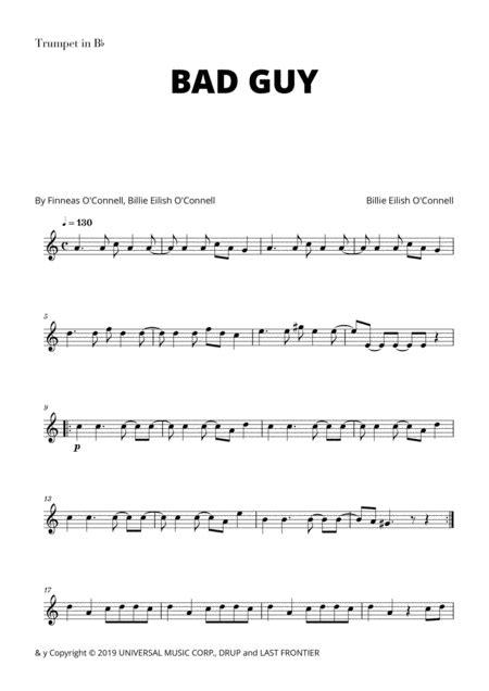 Billie Eilish Bad Guy For Trumpet In Bb  music sheet