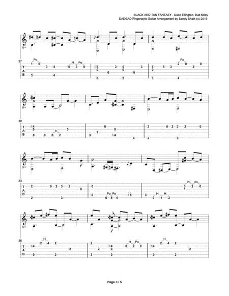 Black And Tan Fantasy Dadgad Fingerstyle Guitar  music sheet