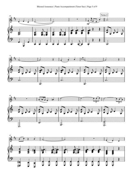 Blessed Assurance Tenor Saxophone Solo With Piano Accompaniment  music sheet