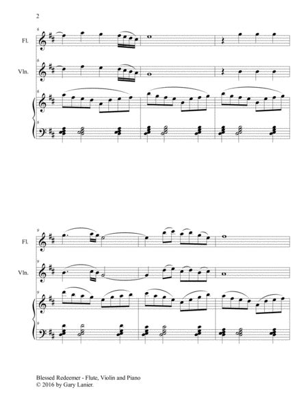 Blessed Redeemer Piano Accompaniment For Flute Bassoon  music sheet