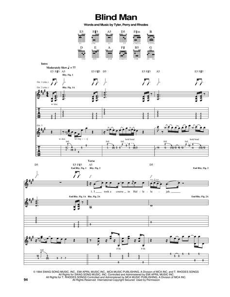 Blind Boy  music sheet