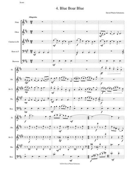 Blue Boar Blue For Wind Quintet music sheet