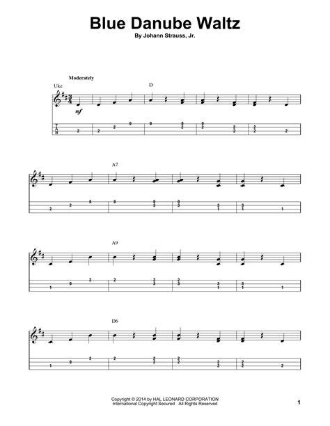 Blue Danube Waltz Johann Strauss Jr For Cello Guitar  music sheet