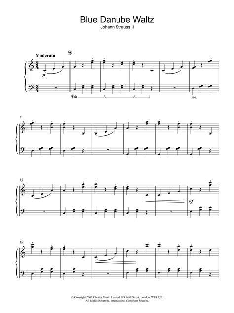 Blue Danube Waltz Johann Strauss Jr For Cello Piano  music sheet