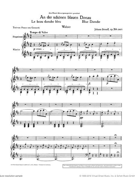 Blue Danube Waltz Johann Strauss Jr For Soprano Saxophone Piano  music sheet