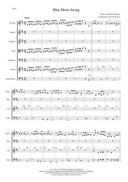 Blue Moon Swing  music sheet