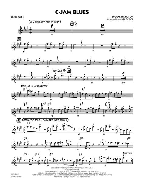 Blues For My Only Love With Improvisation For Alto Sax And Piano Video  music sheet