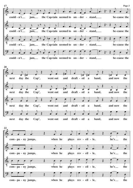 Boogie Woogie Bugle Boy A Cappella  music sheet