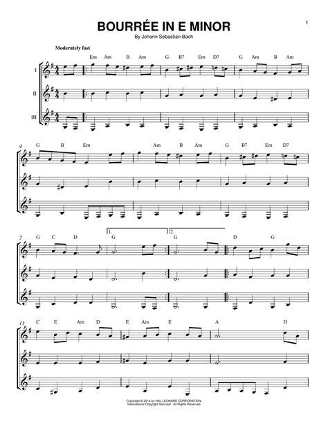 Bouree In E Minor  music sheet