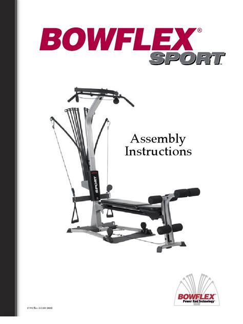free download ebooks Bowflex Sport Assembly Manual.pdf