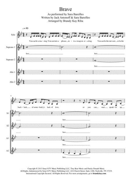 Brave Ssaa A Cappella  music sheet