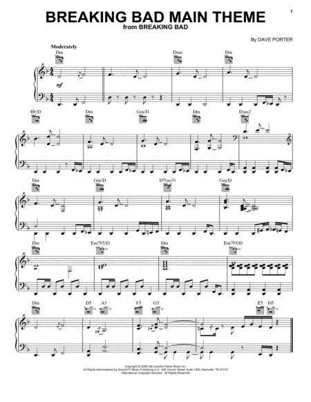 Breaking Bad Main Theme  music sheet