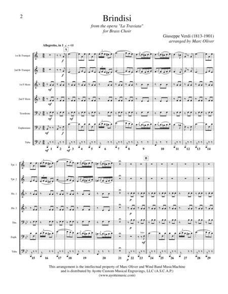 Brindisi A Wedding Drinking Song Rehearsal Track  music sheet