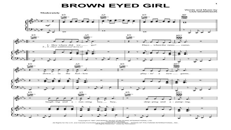 Brown Eyed Girl Horn Parts  music sheet
