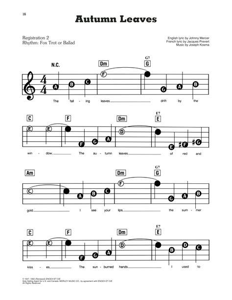 Brown Leaves  music sheet